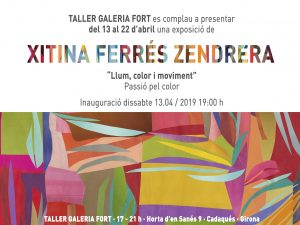 New exhibition in TALLER GALERIA FORT   13th APRIL 2019